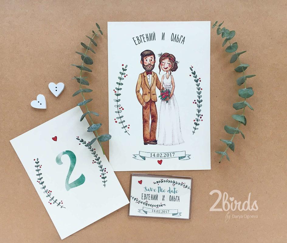 Two Birds - Свадебная полиграфия