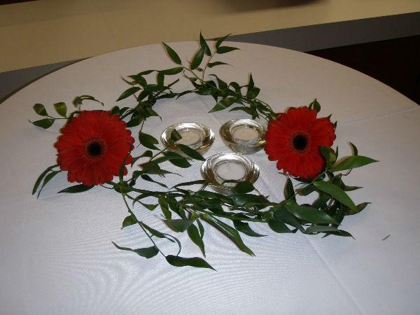 Beispiel: Tischdekoration für Ihre Hochzeit, Foto: Skyline Catering & Event's.