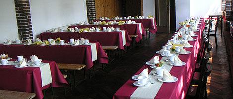 Beispiel: Hochzeitstafel, Foto: Waldbadgaststätte Weixdorf.