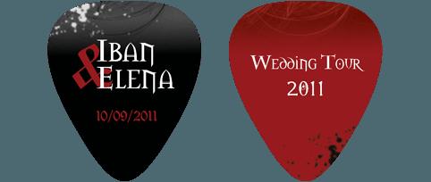 Rock invitaciones de boda - Detalles