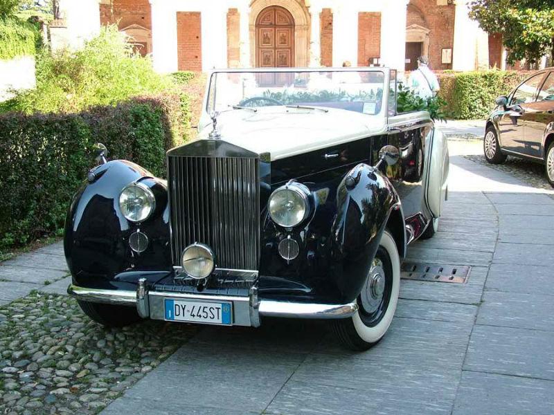 Rolls-Royce DHC bicolore blu/avorio