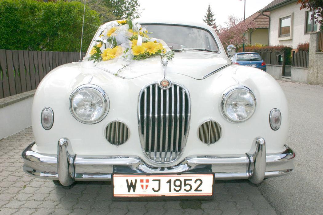 Beispiel: Hochzeitsautos, Foto: Oldtimer-Wien.
