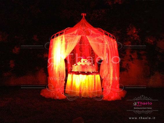 Thaelo Eventi Allestimento zona Wedding Cake