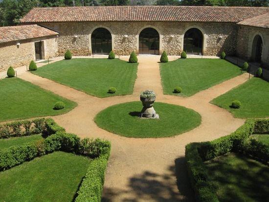 Jardin à la française vu panoramique