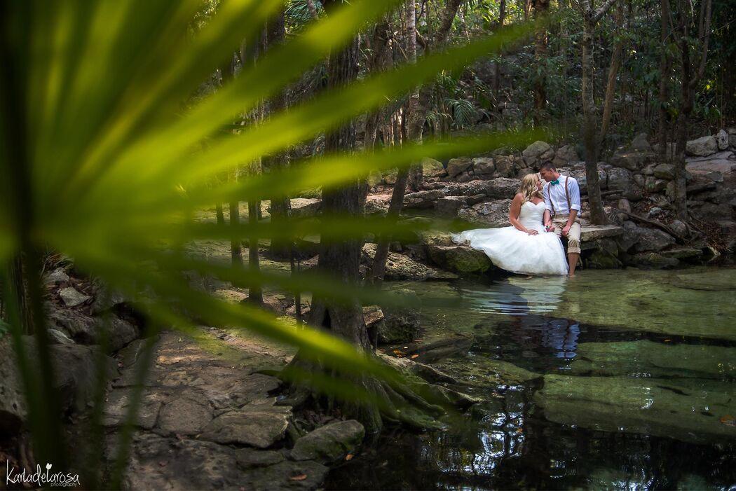 Trash the dress, Cenote Puerto Aventuras