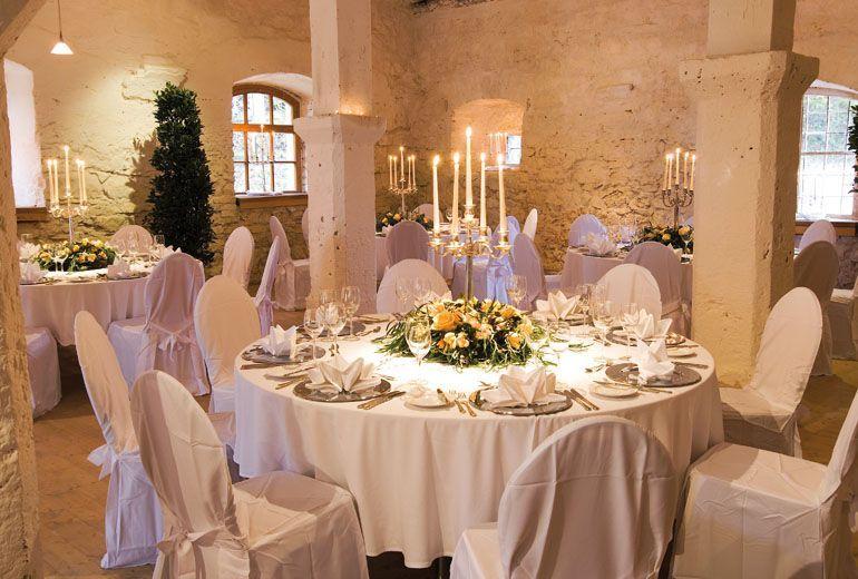 Beispiel: Hochzeitsgedeck, Foto: Schloss Ehrenfels.
