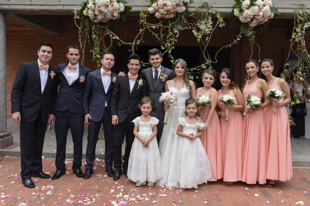 damas de honor -fotos boda en envigado