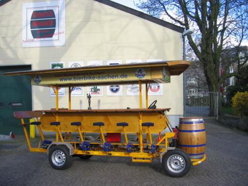 Beispiel: Das BierBike, Foto: BierBike Aachen.