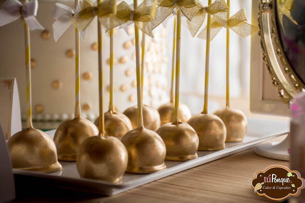Cakepops dorados