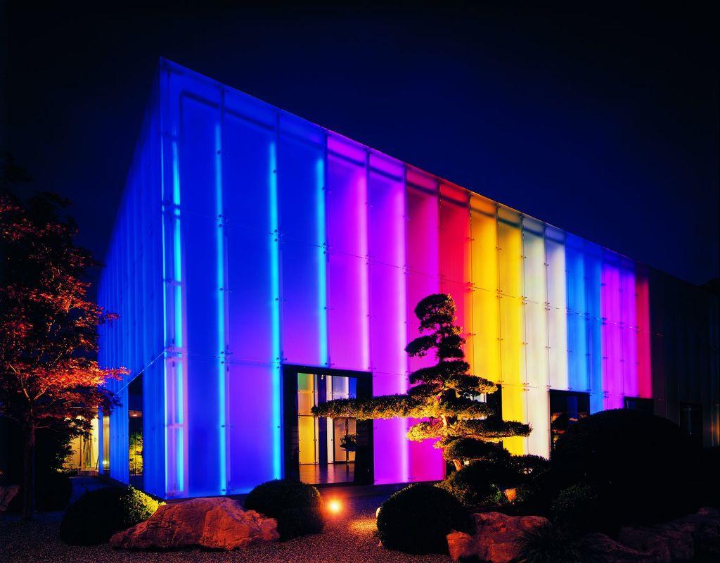 Aquarius Hall farbig beleuchtet, Foto: Park Weggis.