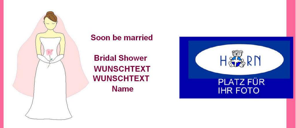 Beispiel: Bridal Shower - Einladung, Foto: Horn Bildschokolade.