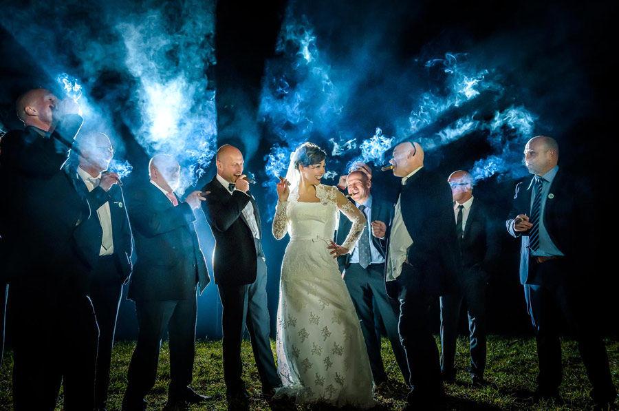 Männerfoto mit Braut