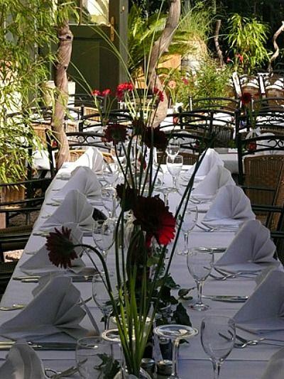 Beispiel: Tischdekoration, Foto: Villa Floßlände.