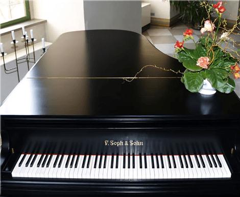 Beispiel: Piano, Foto: Renaissanceschloss Ponitz.