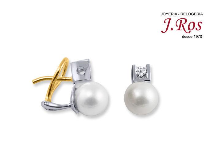 Pendientes para novia con perla