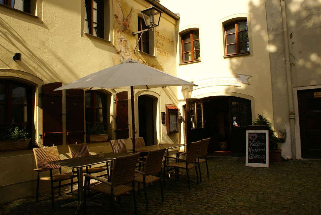 Beispiel: Außenansicht/ Terrasse, Foto: Restaurant Gänsbauer.