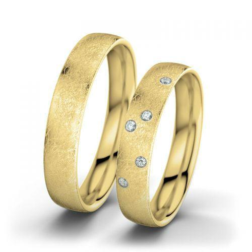 Beispiel: Marilyn & Arthur - Gelbgold, eismatt, Foto: 21 Diamonds.