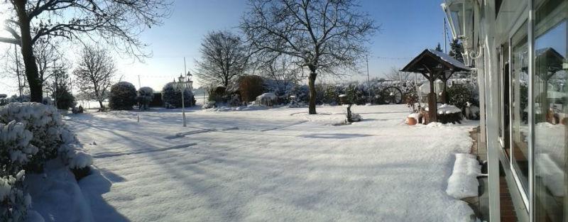 Beispiel: Biergarten im Winter, Foto: AKZENT Landhaus Heinen.