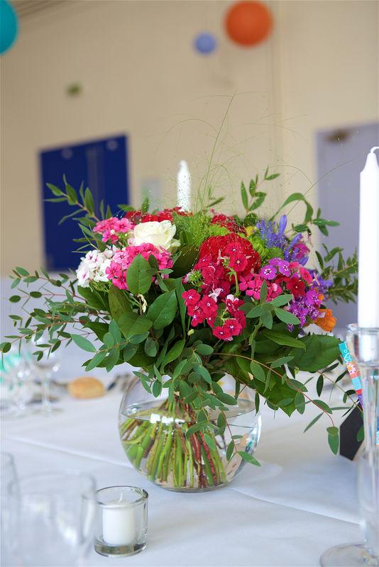 Au Jardin d'Egly - Centre de table bouquet multicolore