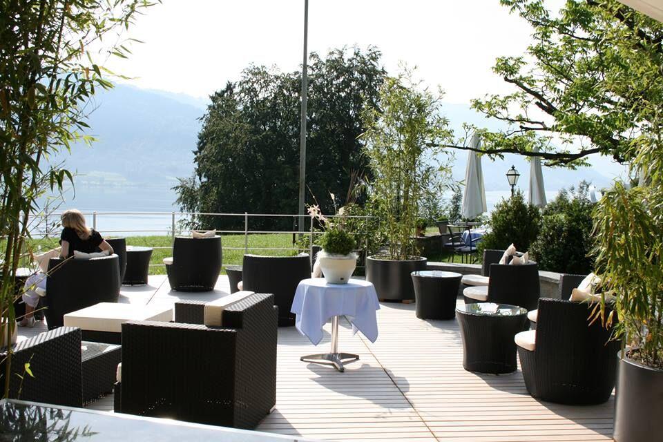 Beispiel: Terrasse, Foto: Hotel Waldheim Risch.