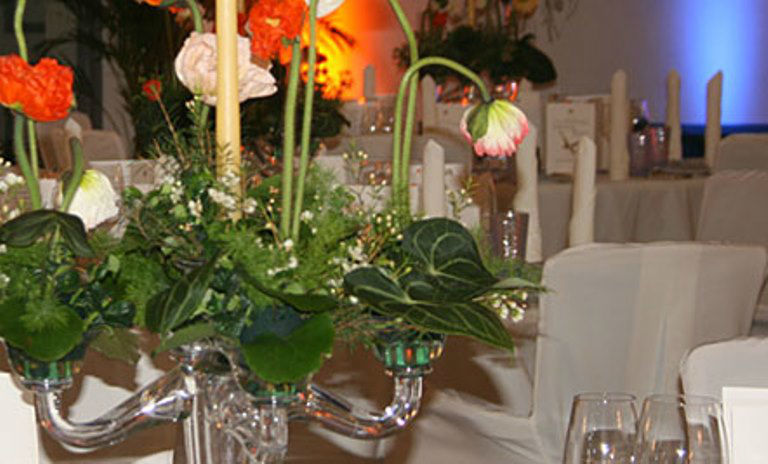 Beispiel: Hochzeitsdekoration, Foto: Blumen Dürr.