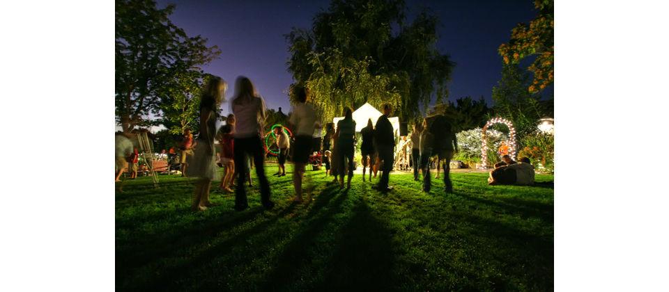 Ambientación Nocturna Carpa Boda Jardín