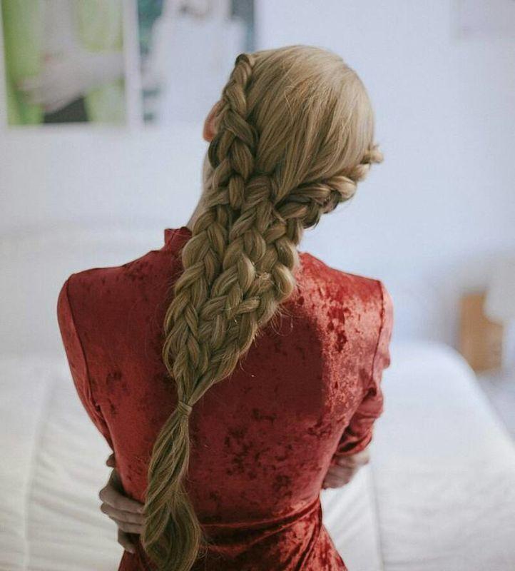 Triple trenza holandesa estilo sirena Por Ube Hairstyle @ubehairstyle Fotografía de Martina Matencio @lalovenenoso