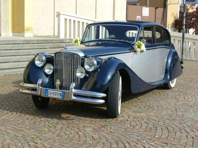 Jaguar MKV bicolore blu/argento