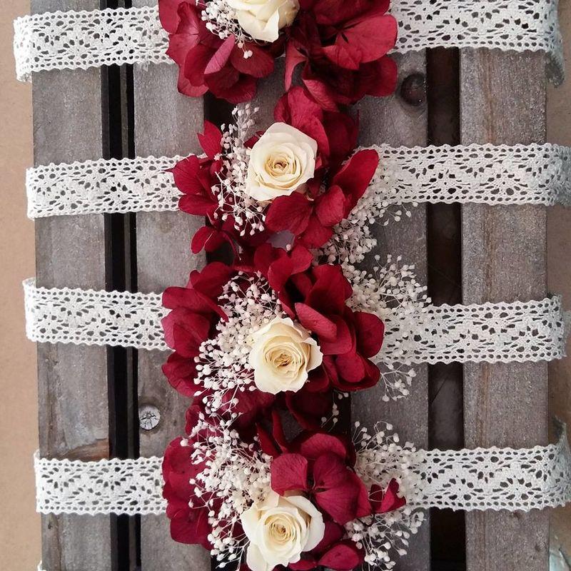 Pulseras flor preservada para las invitadas