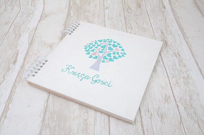Zestaw ślubny z motywem drzewka: księga gości weselnych