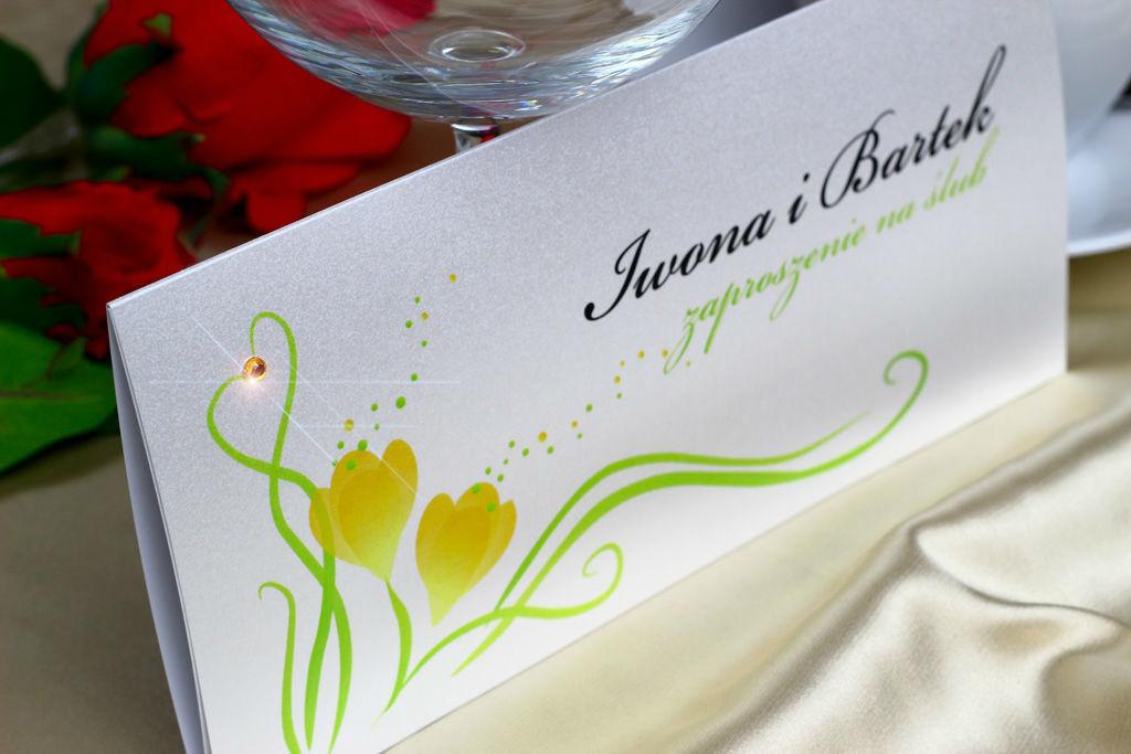 Zaproszenie ślubne - Wiosna z serii 4 pory roku