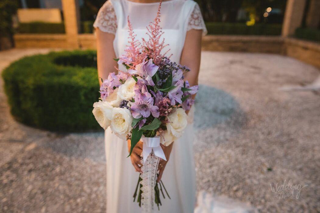 ramo de novia rosas inglesas