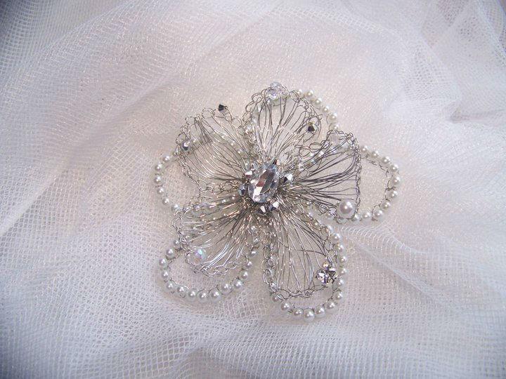 Wire Flower M.Duoo in pearl
