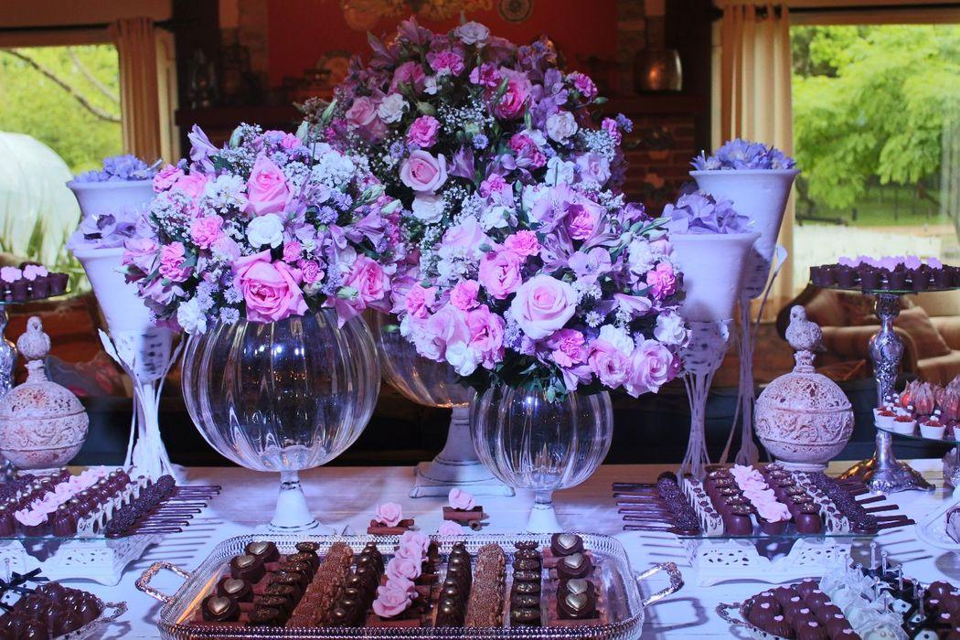 Arranjos de mesa de doces