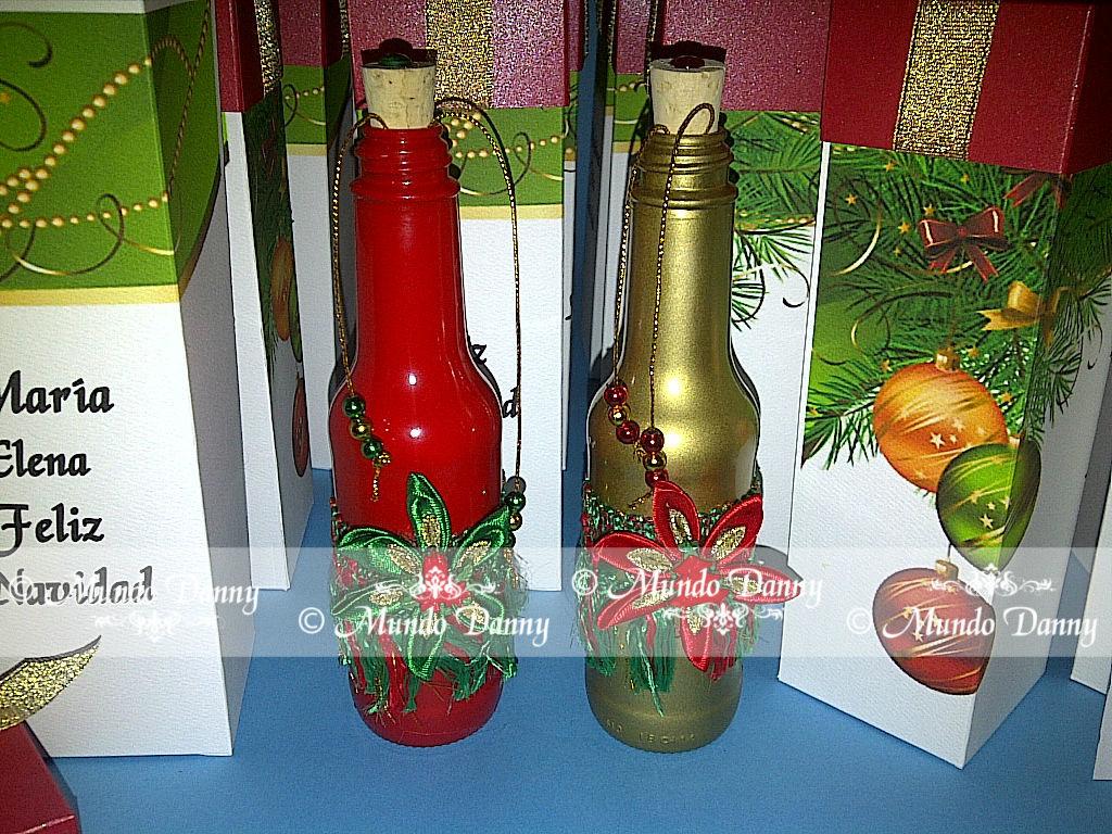 Invitaciones en botella Navideñas