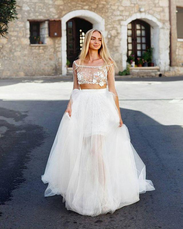 Свадебный костюм для церемонии на Кипре для Наташи.