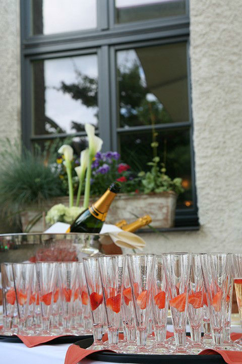Beispiel: Sektempfang, Foto: Vineria Nürnberg.