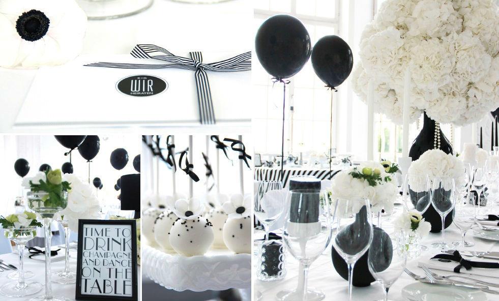 Beispiel: Hochzeit in Schwarz-Weiß, Hochzeitsimpressionen