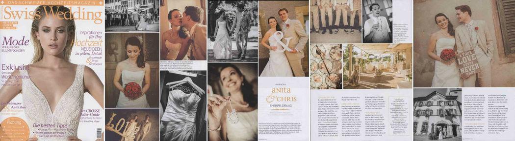 Beispiel: Presse & Media Veröffentlichung in Swiss Wedding über projectwedding.ch & projectphoto.ch