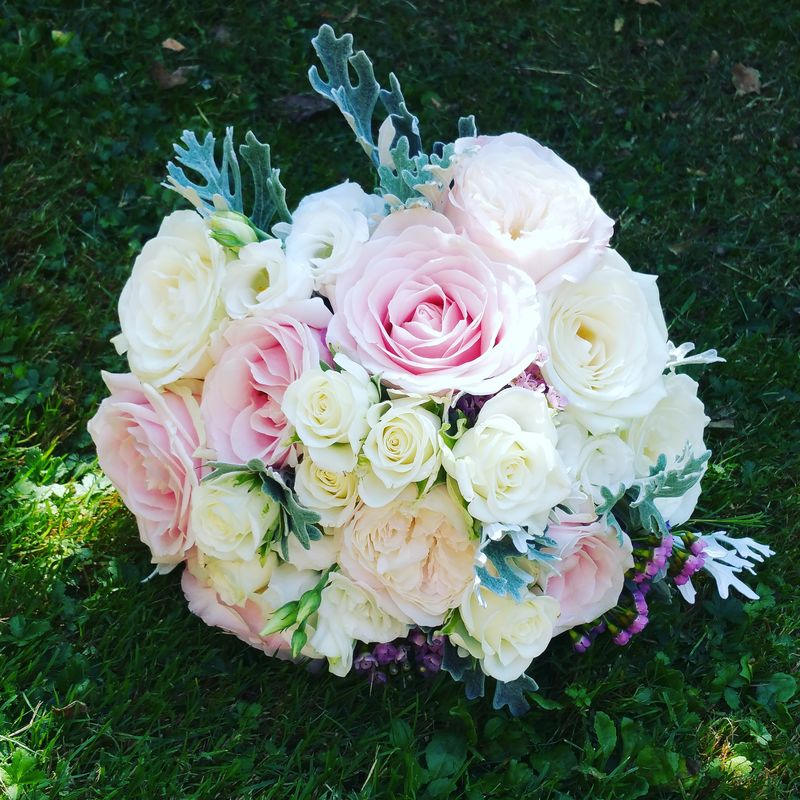 Bouquet de la mariée pastel