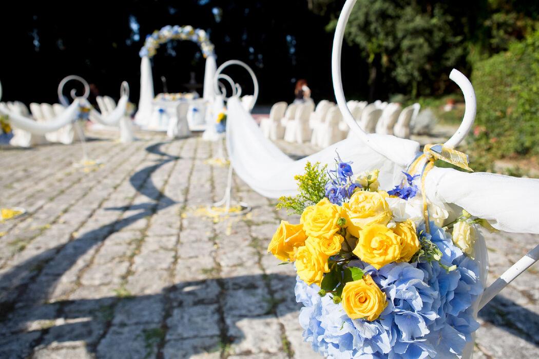 Cerimonia all'aperto in villa