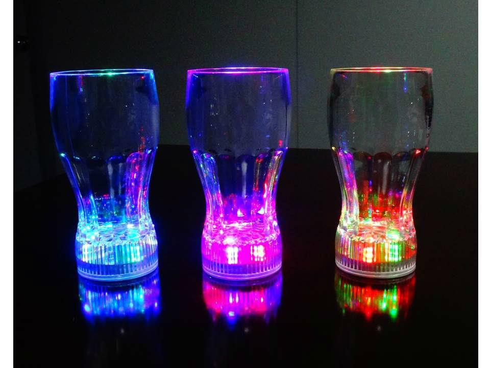 Vasos con luz LED