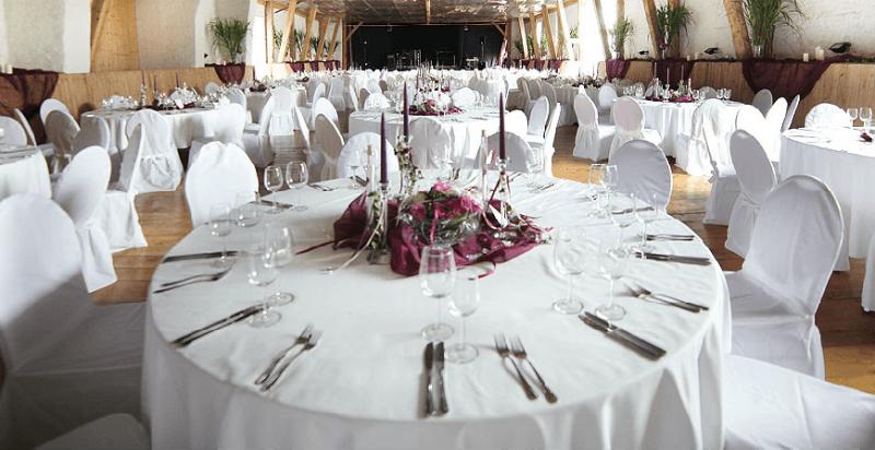 Beispiel: Hochzeitsgedeck, Foto: Gut Sedlbrunn.