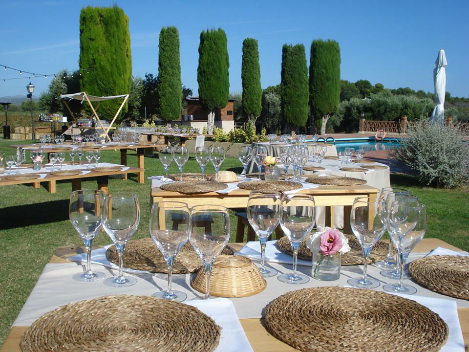 Banquete en el jardin