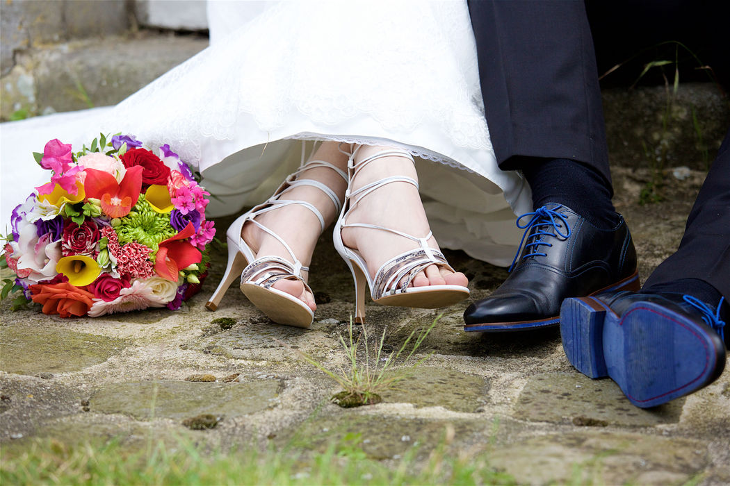Au Jardin d'Egly - Bouquet de mariée multicolore