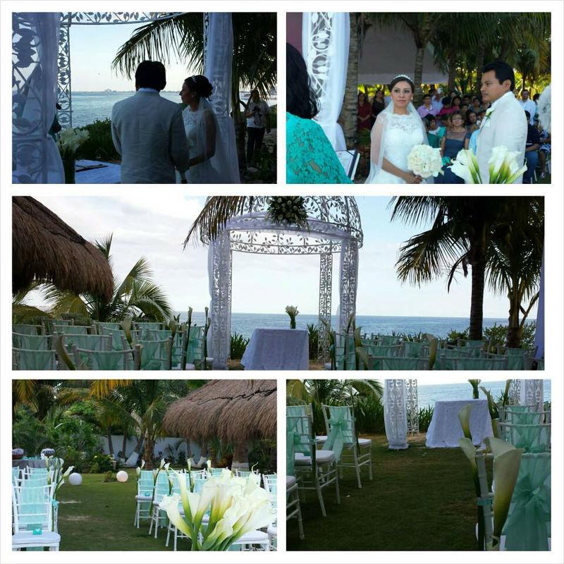 Ceremonia civil, decoración en verde menta