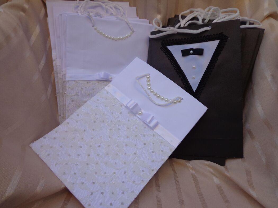 Sacolas personalizadas Noiva/Noivo