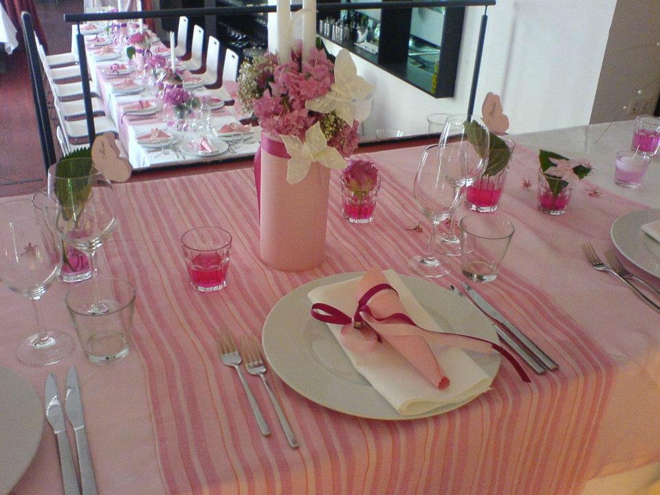 Beispiel: Tischdekoration, Foto: Cantina Majolika.
