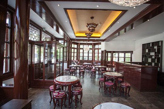 Beispiel: Pavillon Erdgeschoss, Foto: Chinesisches Teehaus Yu Garden.