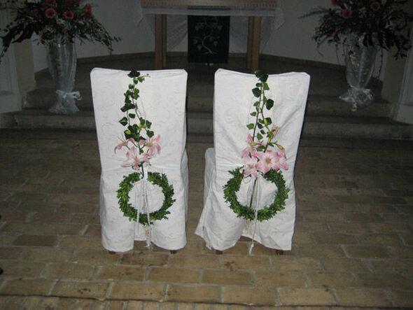Beispiel: Blumen für die Trauung, Foto: Blumen-Heidi - Die Floristen-Werkstatt.